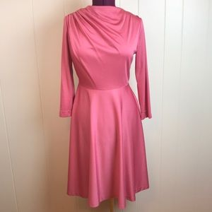 Vintage 60s/70s Salmon Pin Up Fit & Flare Dress